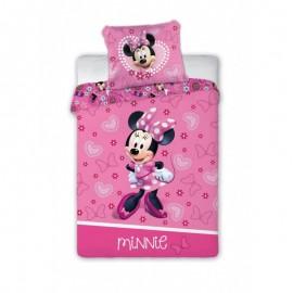 Detské obliečky Myška Minnie so srdiečkami 135x100 cm