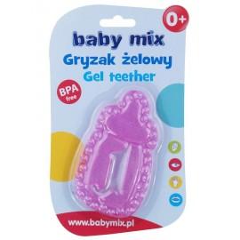 Chladiace hryzátko Baby Mix fľaša ružová