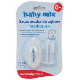 Prvá zubná kefka s puzdrom Baby Mix