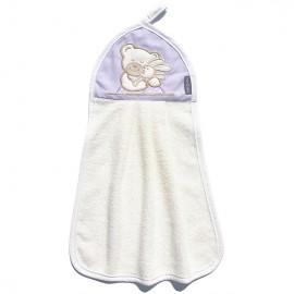 MAMO-TATO detský uterák 32x46 - Fialová