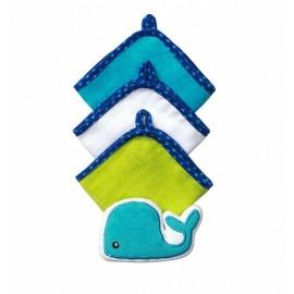 Baby Ono Sada rukavíc na umývanie 143 Veľryba