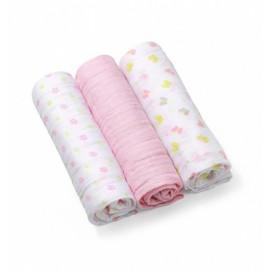 Baby Ono Mušelínové plienky ružové 382/05