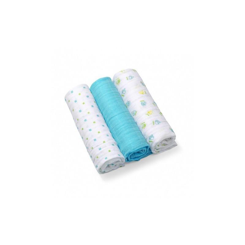 Baby Ono Mušelínové plienky modré 382/06