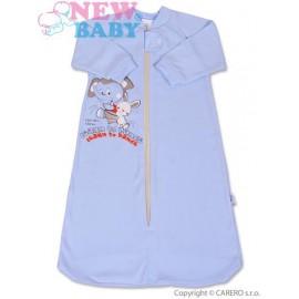 Dojčenský spací vak New Baby modrý veľ.68