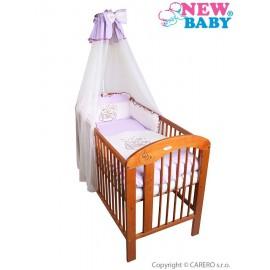 7-dielne posteľné obliečky New Baby Bunnies 100x135 fialové