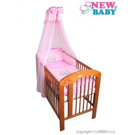 7-dielne posteľné obliečky New Baby Bunnies 100x135 ružové