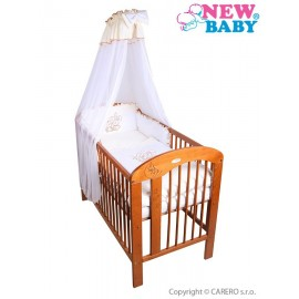 7-dielne posteľné obliečky New Baby Bunnies 90x120 bežové