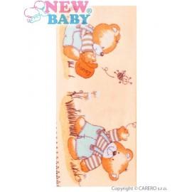 Flanelová plienka s potlačou New Baby béžová Honey