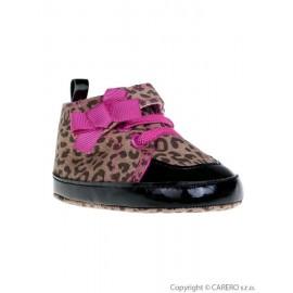 Detské topánočky Bobo Baby hnedé so vzorom 6-12 m