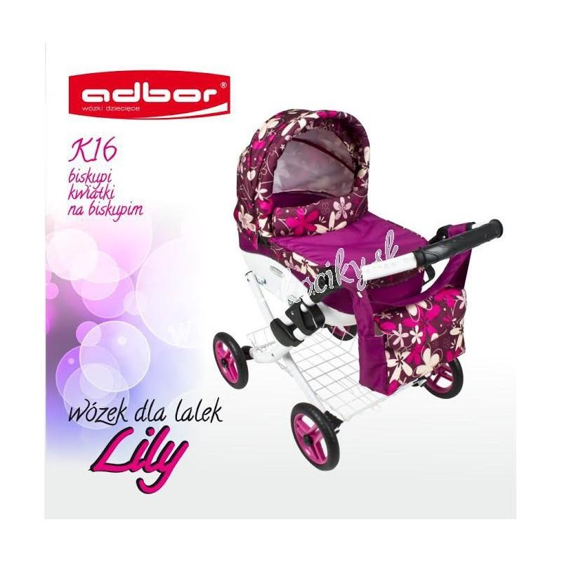 Kočík pre bábiky Adbor Lily K16