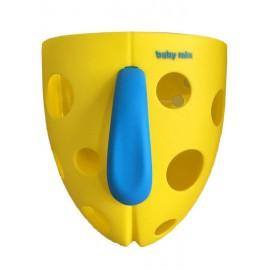 BABY MIX Plastový box na hračky do vane Baby Ono žltý