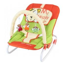 Detské ležadlo Sun Baby Macko zeleno-oranžová