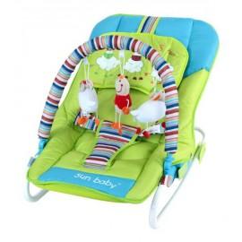 Detské ležadlo Sun Baby Ovečka modro-zelená