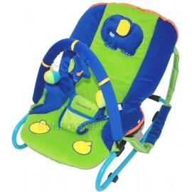 Detské ležadlo Sun Baby Sloník modro-zelená