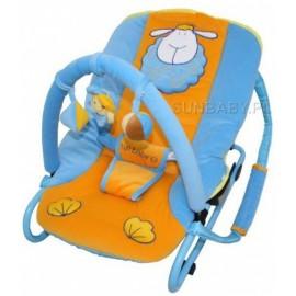 Detské ležadlo Sun Baby Ovečka modro-oranžová