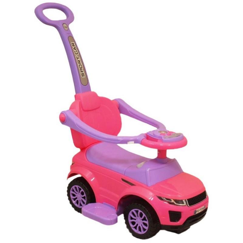 Detské hrajúce vozítko 3v1 Baby Mix ružové