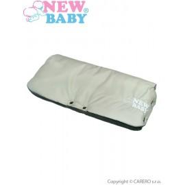NEW BABY Rukávnik na kočík Classic Fleece olive/grey