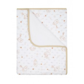 DuetBaby Detská deka Minky biela
