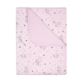 Detská deka Minky ružová
