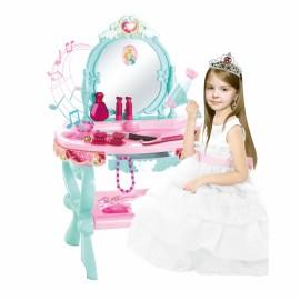 WOOPIE Toaletný stolík so zvukom, svetlom Princess Music + 25 dielov