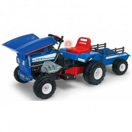 Injusa traktor Dump na akumulátor 12V modrý