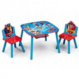 Detský stôl s stoličkami Tlapková Patrola - záchranári