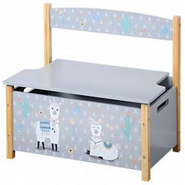 Detská lavica s úložným priestorom Lama