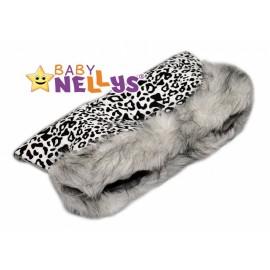 Rukávník ku kočíku s kožušinkou Baby Nellys ® Flees leopardí vzor