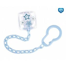 Retiazka na cumlík Canpol Babies - Newborn baby sv. modré