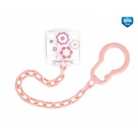 Retiazka na cumlík Canpol Babies - Newborn baby sv. ružový