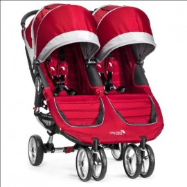 Baby Jogger Kočík City Mini double CRIMSON/GRAY