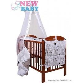 7-dielne posteľné obliečky New Baby 90/120 cm Ovečky biele