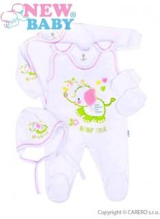 NEW BABY Súpravička 4-dielna Sloník veľ.62