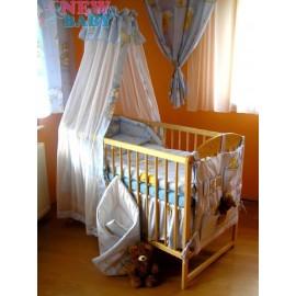 7-dielne posteľné obliečky 90/120 cm New Baby modré s mackom