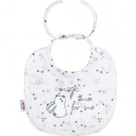Dojčenský podbradník New Baby Magic Star sivý