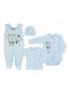 4-dielna dojčenská súprava v Eko krabičke Koala Darling modrá veľ.68