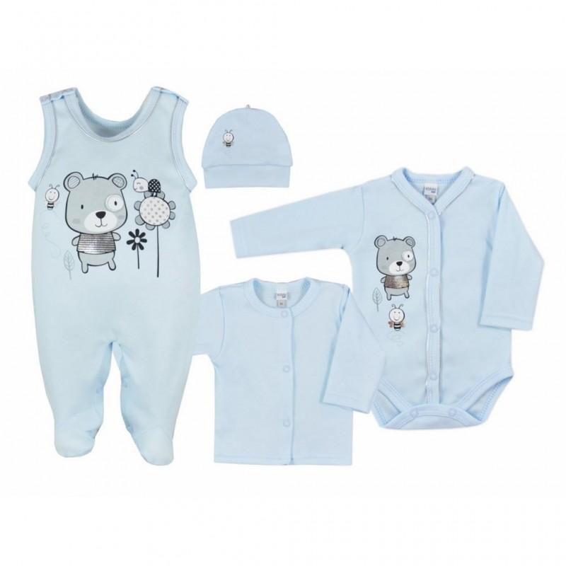 4-dielna dojčenská súprava v Eko krabičke Koala Darling modrá veľ.50