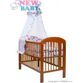 7-dielne posteľné obliečky New Baby 90/120 cm + držiak na nebesia bodky sivé