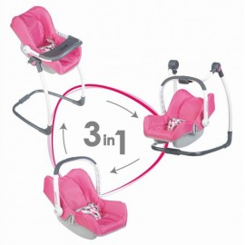 Simba Toys 3v1 Autosedačka a stolička Maxi Cosi pre bábiky