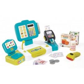 Simba Toys Pokladňa elektronická s váhou modrá