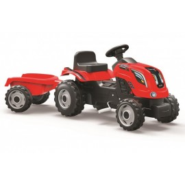Simba Toys Šliapací traktor Farmer XXL červený s vozíkom