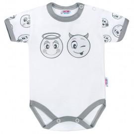 Dojčenské bavlnené body s krátkym rukávom New Baby Emotions veľ.74