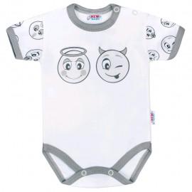 Dojčenské bavlnené body s krátkym rukávom New Baby Emotions veľ.56