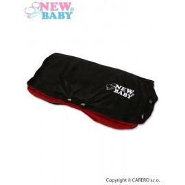 NEW BABY Rukávnik na kočík Classic Fleece black/red
