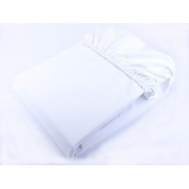 DuetBaby Nepremokavé bavlnené prestieradlo biele 160x80 cm