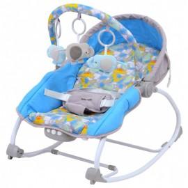Lehátko pre bábätko 2v1 Baby Mix Dino Grey blue