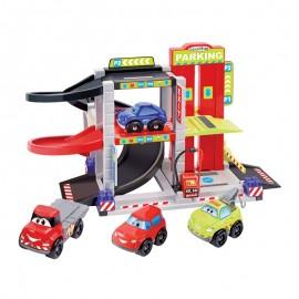 Ecoiffier závodný garáž s autíčkami