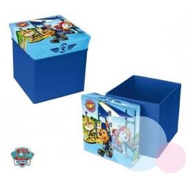 Disney Taburetka s úložným priestorom Tlapková patrola modrá