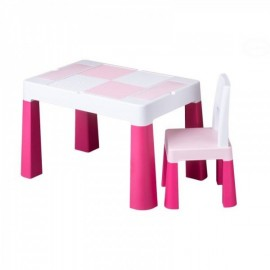 Stôl so stoličkou Tega Baby Multifun Ružová
