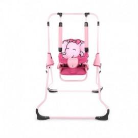 Detská hojdačka Animals Tako ružový sloník